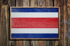 Wooden Costa Rica flag Royalty Free Stock Image
