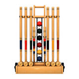 3D Rendering Croquet Stand on White Stock Photos