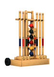 3D Rendering Croquet Stand on White Stock Photo