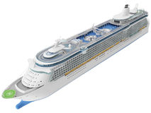 3d Rendering of a Cruise Ship Stock Image