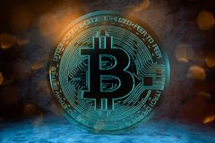3D rendering from a crypto currency coin Stock Photo