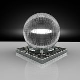 3D rendering. Crystal ball. Royalty Free Stock Photo