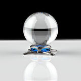 3D rendering. Crystal ball. Stock Image