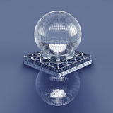 3D rendering. Crystal ball. Stock Photography