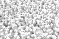 3D Rendering With Cubes. Abstract 3D Rendering Background With Grey Cubes royalty free illustration