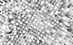 Cubes making a city downtown. 3d rendering of cubes making a city downtown stock illustration