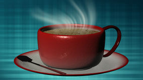 3d rendering Cup of coffee Royalty Free Stock Images