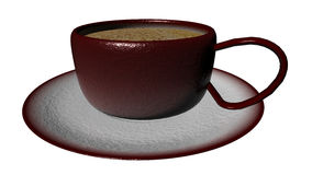 3d rendering Cup of coffee Royalty Free Stock Image