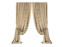 3D rendering of a curtain Stock Photos