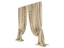 3D rendering of a curtain Royalty Free Stock Photo