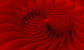 3d rendering Curved abstract on red background in valentine`s da Stock Images