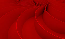 3d rendering Curved abstract on red background in valentine`s da Royalty Free Stock Photos