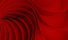 3d rendering Curved abstract on red background in valentine`s da Stock Photos