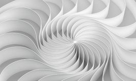 3d rendering Curved abstract on white background, illustration Stock Images