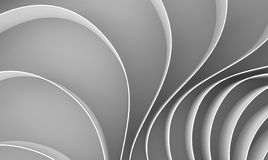 3d rendering Curved abstract on white background, illustration Stock Photo