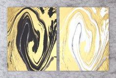 3D rendering czarny i biały marmur z złotą folią dla zaproszenie karty lub twój projekta wewnętrznego projekta poślubiać i powita ilustracja wektor
