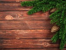 3D rendering dark christmas wooden background Stock Photos