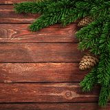 3D rendering dark christmas wooden background Royalty Free Stock Photography