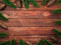 3D rendering dark christmas wooden background Stock Photography