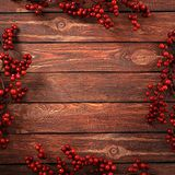 3D rendering dark christmas wooden background Royalty Free Stock Photo
