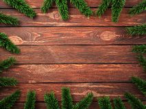 3D rendering dark christmas wooden background Stock Images