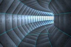 3d rendering, dark science-fiction tunnel, dark background royalty free illustration