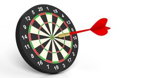 3d rendering dart on target on white background Royalty Free Stock Image