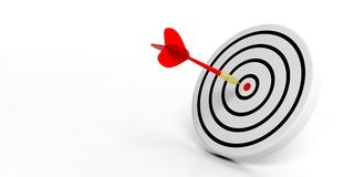 3d rendering dart on target on white background Stock Photos