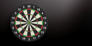 3d rendering darts board on black background. 3d rendering colorful darts board on black background Stock Photos