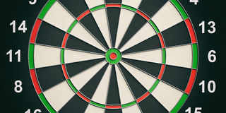 3d rendering darts board close up Stock Photography