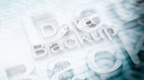3D rendering of with Data Backup text Stock Photos