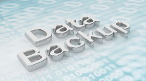 3D rendering of with Data Backup text Royalty Free Stock Image