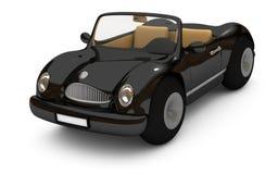 3d-rendering de um carro preto Fotos de Stock Royalty Free