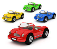 3d-rendering dell'automobile variopinta delle automobili Fotografia Stock Libera da Diritti