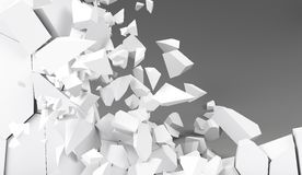 3d rendering destruction of wall Royalty Free Stock Image