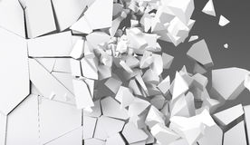 3d rendering destruction of wall Stock Image
