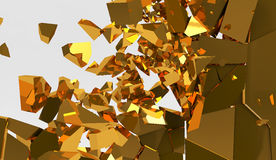 3d rendering destruction of wall Royalty Free Stock Photography