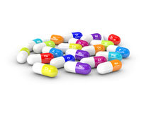 3d rendering of dietary supplements isolated over white Royalty Free Stock Image