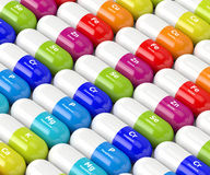 3d rendering of dietary supplements Royalty Free Stock Images