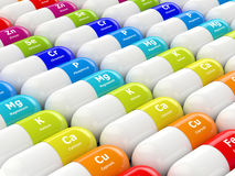 3d rendering of dietary supplements Royalty Free Stock Photos