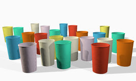 Colorful paper cups Stock Photo