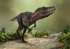 3D Rendering Dinosaur Tarbosaurus Royalty Free Stock Photo