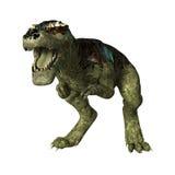 3D Rendering Dinosaur Tyrannosaurus Rex on White Stock Photos
