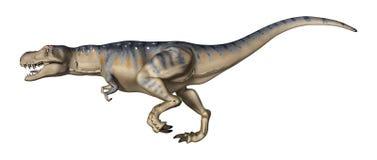 3D Rendering Dinosaur Tyrannosaurus on White Stock Photo
