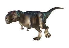 3D Rendering Dinosaur Tyrannosaurus on White Royalty Free Stock Photo
