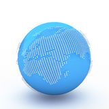 3d rendering Dotted Globes Stock Images
