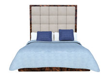 3D Rendering Double Bed on White. 3D rendering of a double bed isolated on white background Stock Images