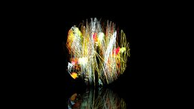 3d rendering Dużej tęczy Neonowa szklana sfera z przejrzystym g Zdjęcia Royalty Free