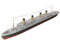 3d Rendering of a Early 1900s Steamliner Stock Photo