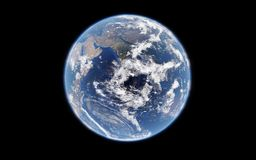 3d rendering of the earth from space, highly detailed planet earth, elements furnished by NASA. Stock Photo